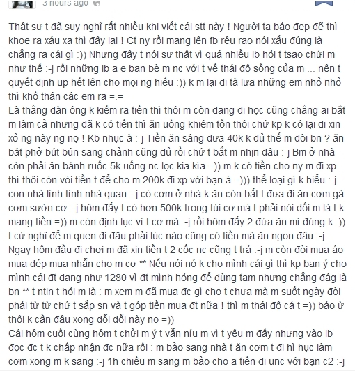 Lại thêm vụ tố bạn trai cũ xin tiền của nữ sinh Hà thành