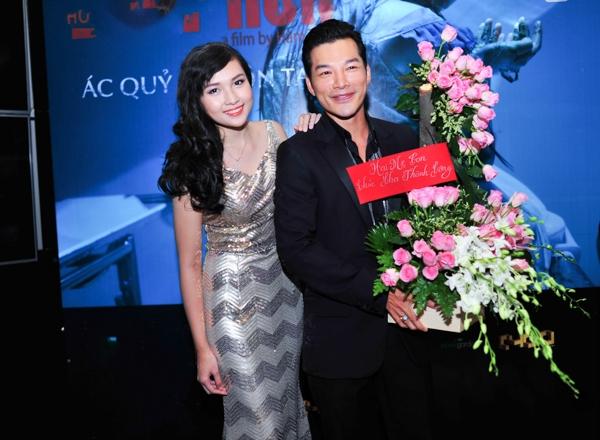 Trần Bảo Sơn cũng rất xúc động khi vợ cũ, diễn viên Trương Ngọc Ánh và con gái Bảo Tiên bất ngờ gửi hoa chúc mừng thành công của anh.