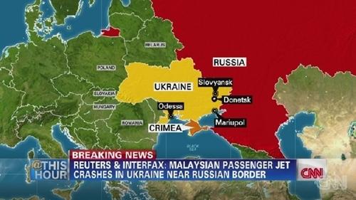 Bản đồ khu vực miền đông Ukraine. Đồ họa: CNN.