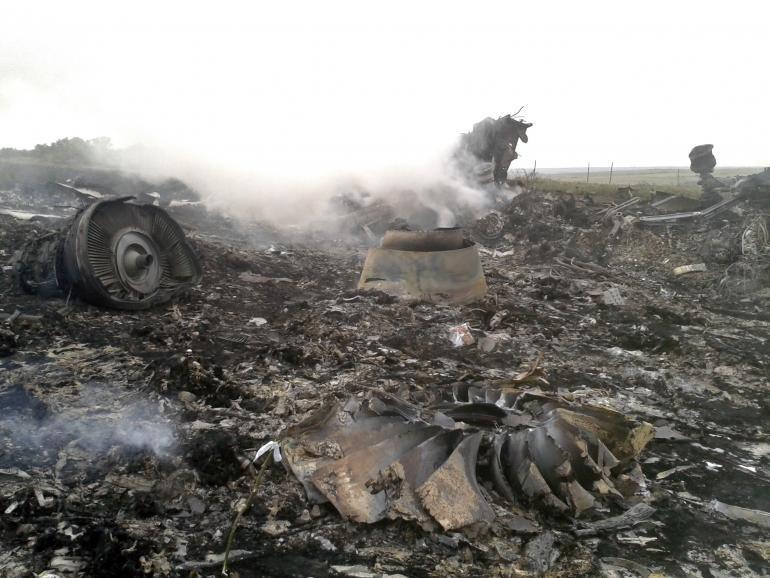 Hình ảnh tang thương của máy bay MH17