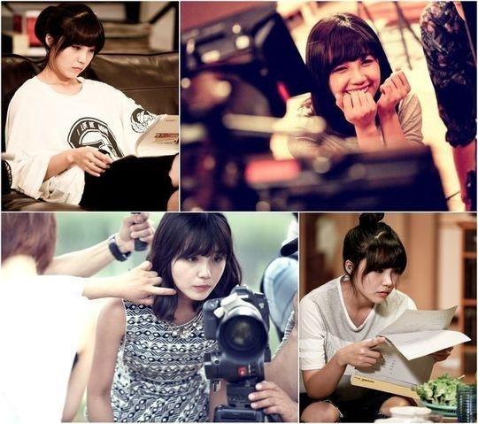 Những hình ảnh của Eunji được đoàn làm phim chia sẻ
