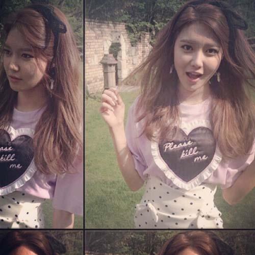 Sooyoung khoe hình ngoài sân vườn cực xinh