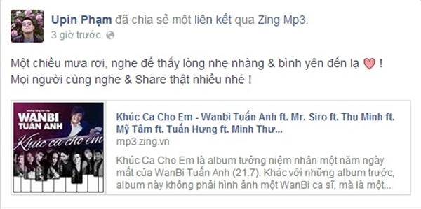 """Anh chàng ca sĩ trẻ Phạm Hồng Phước cảm thấy """"nhẹ nhàng và bình yên đến lạ"""" khi nghe lại những ca khúc do WanBi sáng tác."""