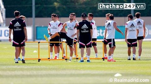 Thầy trò HLV Carlo Ancelotti chuẩn bị cho mùa giải mới