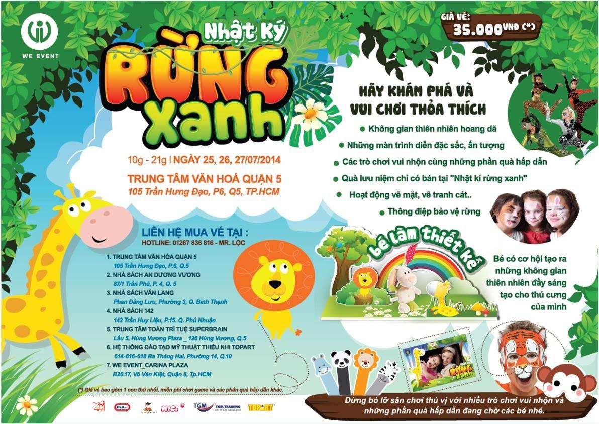 Nhật ký rừng xanh - Wonderland tại Việt Nam cho trẻ em vui chơi ngày hè