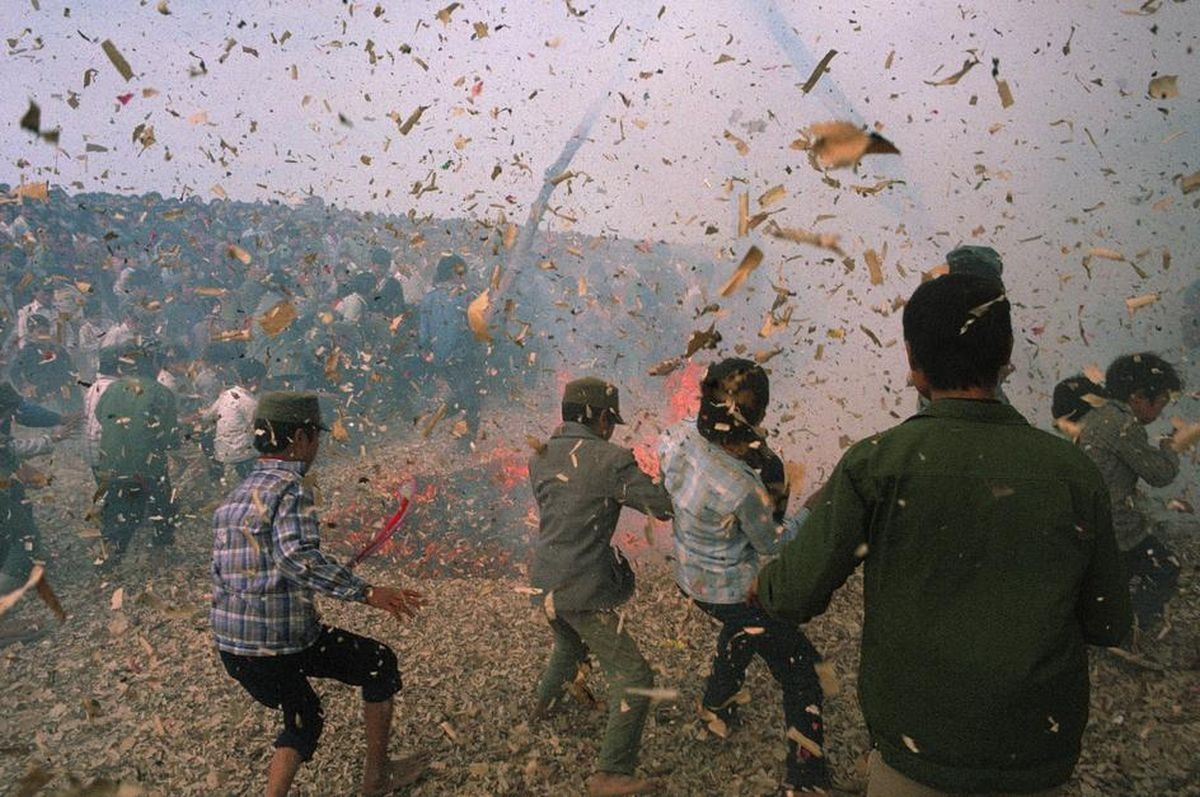 Màn thi pháo vô cùng tưng bừng, náo nhiệt tạiBắc Ninh