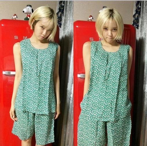 """Hyomin bất ngờ khoe """"đồ bộ"""" cực đáng yêu"""