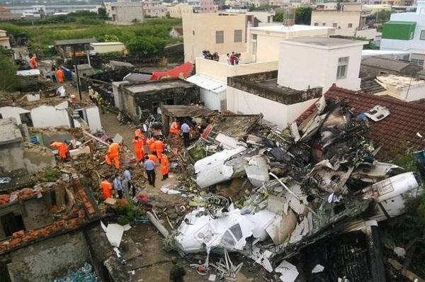 Chiếc ATR 72 của hãng hàng không TransAsia Airways gặp nạn khi đang từ sân bay ở Cao Hùng đến một đảo nhỏ thuộc Bành Hồ.