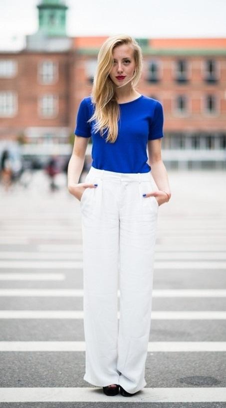 Xua tan nắng hè với trang phục màu xanh