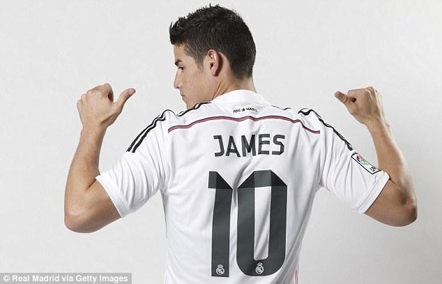 Real thu về 21 triệu bảng chỉ sau 48 giờ nhờ bán áo đấu của James Rodriguez