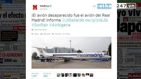 Chiếc MD-83 từng được Real Madrid sử dụng trong 2 năm