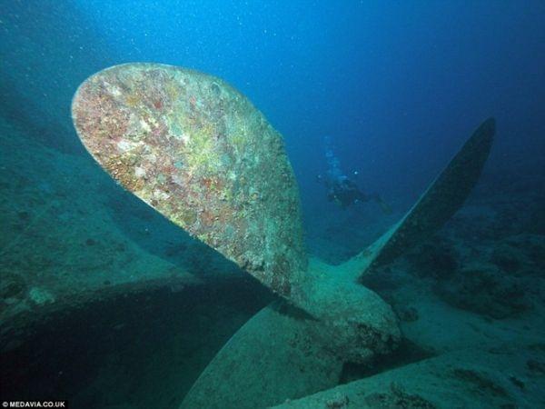 Mãi đến gần đây, người ta mới bắt đầu thực hiện những cuộc thăm dò. Suốt 73 năm nằm sâu dưới đáy biển, nhiều thiết bị kim loại nằm trên xác tàu đã hoen gỉ.