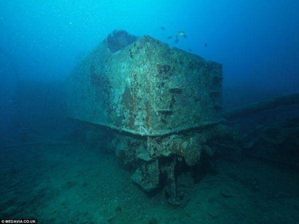 Một vật thể đã bị nước biển ăn mòn gần như toàn bộ