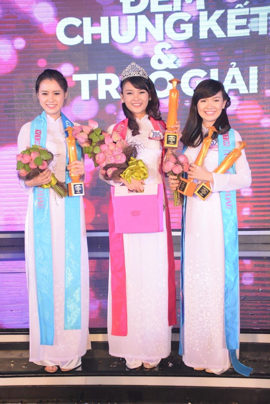 Rạng rỡ đêm chung kế tìm kiếm gương mặt Áo dài Nữ sinh Việt Nam 2014