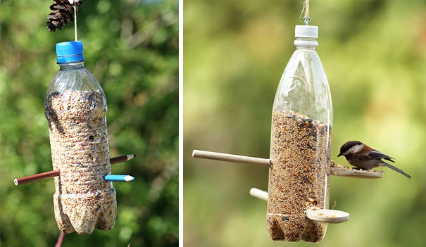 Những cách tuyệt vời để tái chế bình nước cũ