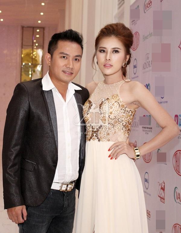 Diễn viên Thiên Bảo sánh đôi cùng Miss Bikini Kim Yến.