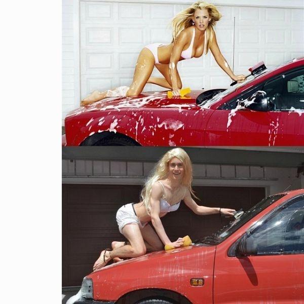 Gợi cảm mọi lúc mọi nơi, cả khi rửa xe cũng phải gợi cảm