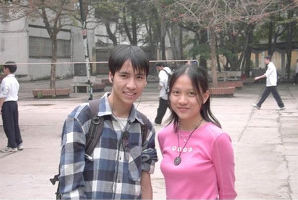 Bức ảnh của Anh Thư và Toàn Shinoda thời học sinh.