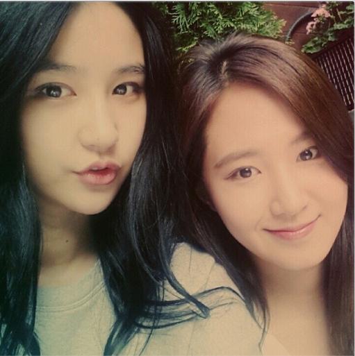 Em họ của Yuri khoe hình thân thiết bên chị gái