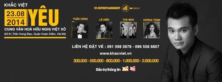 Liveshow đầu tay của Khắc Việt sẽ diễn ra vào lúc 20 giờ ngày 23/08 tại Cung hữu nghị Việt Xô Hà Nội - Tin sao Viet - Tin tuc sao Viet - Scandal sao Viet - Tin tuc cua Sao - Tin cua Sao