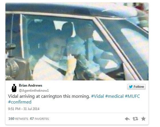Vidal đã có mặt ở Carrington