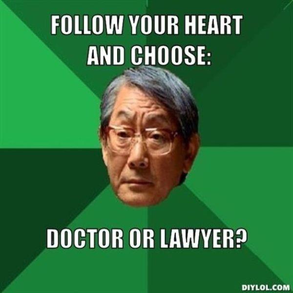 """""""Hãy nghe theo trái tim của con và chọn cái nghề mà con yêu thích. Nào, bác sĩ hay luật sư - Con chọn đi"""""""