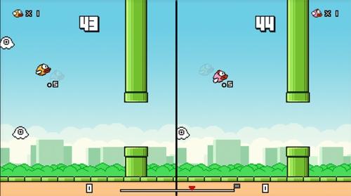 Game có thêm các nhân vật mới như chim hồng, vật cản mới như con ma màu trắng.