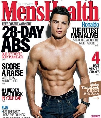 Ronaldo trên bìa tạp chí Men's Health