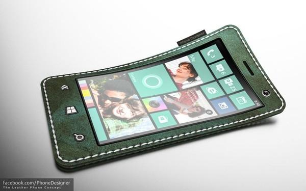 """Chiếc smartphone da của Jonastận dụng vật liệu da lạ mắt đồng thời là phần """"mác"""" gợi nhớ tới dòng sản phẩm thời trang 73xx của Nokia trước đây."""