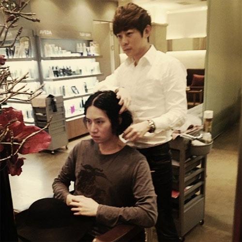 Heechul khoe hình chuẩn bị thay đổi kiểu tóc mới
