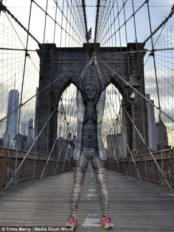 Một trong những bức ảnh ấn tượng nhất trên cầu Brooklyn