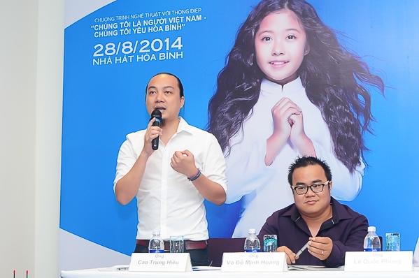 """Đêm nghệ thuật """"Tuổi Trẻ Việt Nam - Câu chuyện hòa bình"""" sẽ được tổ chức vào lúc 20g00 ngày 28/8 tại Nhà hát Hòa Bình (TP.HCM) với ba phần chính là """"yêu quê hương, yêu con người và yêu hoà bình"""" do đạo diễn Phạm Hoàng Nam dàn dựng"""