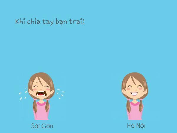 """Khi chia tay bạn trai, các cô gái Sài Gòn sẽ """"than thở, khóc lóc"""", thế nhưng các nàng Hà Nội thì lại thường """"giấu nỗi buồn vào sau nụ cười"""""""