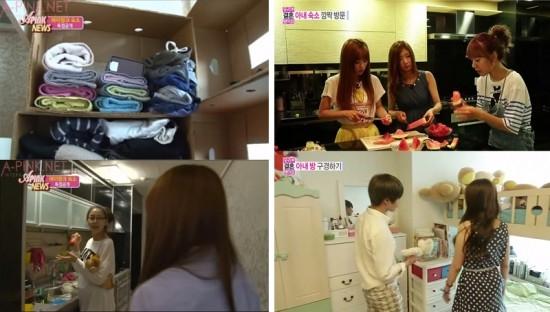 Tuy mới ra mắt của 3 năm, nhưng các cô gái A Pink đã tạo được một vị trí nhất định trong Kpop. Các cô gái đã chuyển sang một căn bộ sáng sủa hơn, nơi có nhà bếp rộng rãi để họ có thể cùng nhau ăn tối sau những ngày làm việc căng thẳng.