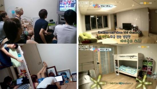 Trải qua một khoảng thời gian ra mắt, cuối cùng các chàng trai B1A4 có thể sở hữu được không gian rộng rãi và họ có thể cùng nhau xem phim và chơi game.