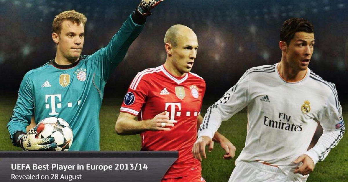 3 ƯCV còn cơ hội được bầu là cầu thủ xuất sắc nhất châu Âu