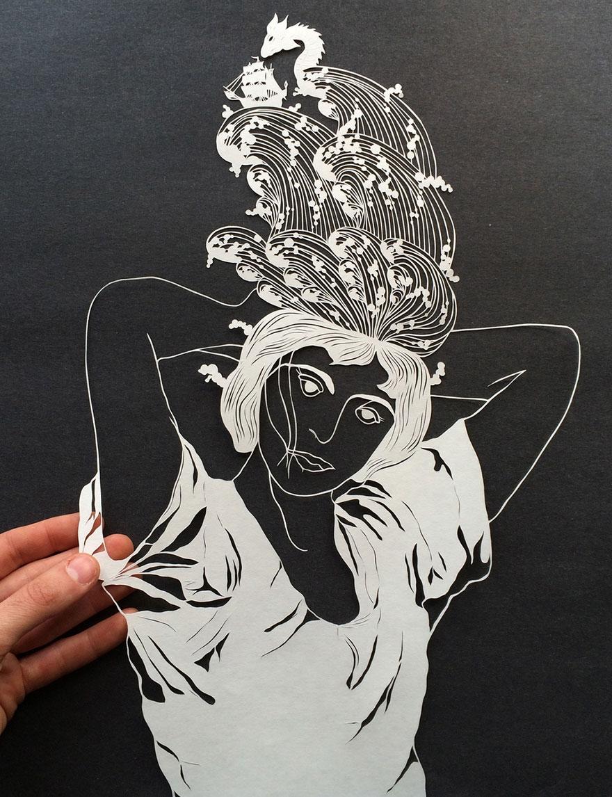 """Ngắm những """"bức họa"""" hoàn hảo từ nghệ thuật cắt giấy"""