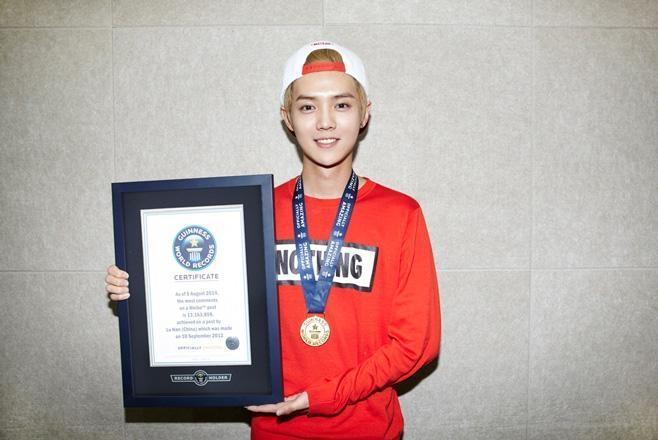 Luhan (EXO) được ghi tên vào kỷ lục Guinness