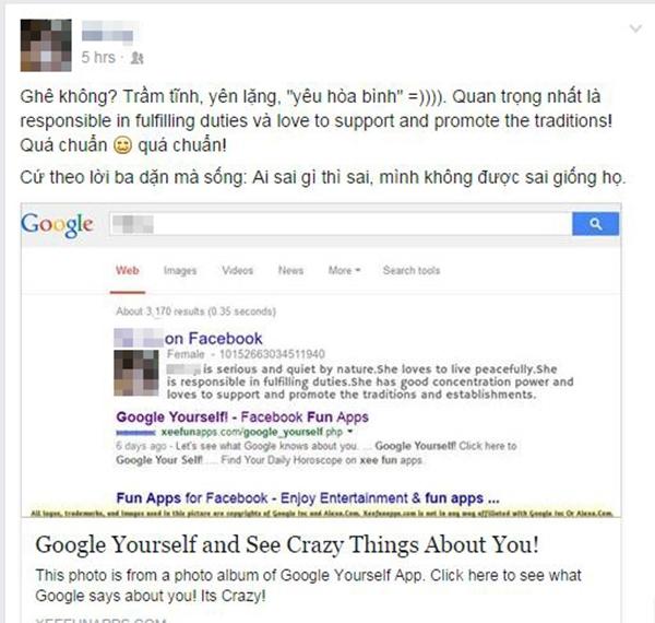 Ứng dụng tìm kiếm bản thân gây sốt cộng đồng mạng