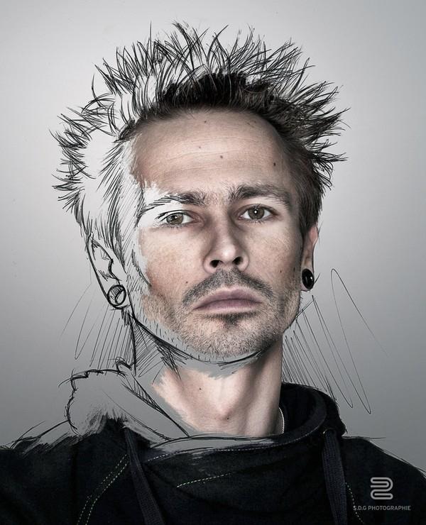 Tuyệt tác bộ ảnh họa sĩ tự phác thảo chân dung chính mình