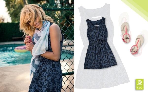 Các cô nàng yêu thích sự nữ tính cũng sẽ có dịp làm mới tủ đồ của mình với mẫu áo đầm mới từ Bộ sưu tập Hè của adidas NEO.