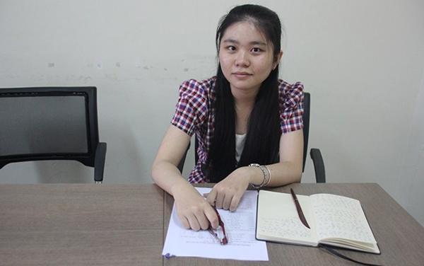 Trịnh Trần Mai Kim Hoàng, sinh viên có điểm tổng kết hoàn hảo.