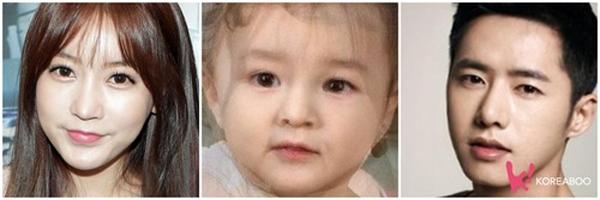 """Hé lộ gương mặt """"em bé tương lai"""" của các đôi Sao Hàn"""