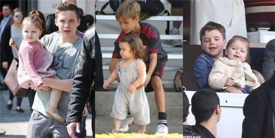 Brooklyn, Romeo và Cruz đều rất quan tâm chăm sóc bé Harper.