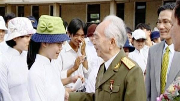 Ngôi trường đầu tiên mang tên Võ Nguyên Giáp