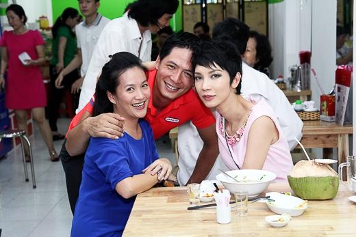 Vợ chồng Bình Minh và siêu mẫu Xuân Lan