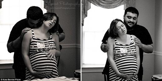 Cảm động với loạt ảnh lần đầu tiên bố mẹ được ôm con vào lòng