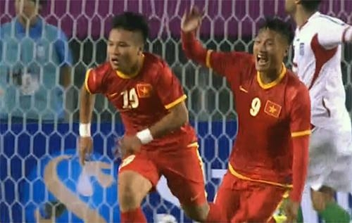 Đây chắc chắnlà một chiến thắng lịch sử của bóng đá Việt Nam. Ảnh:Quang Dũng