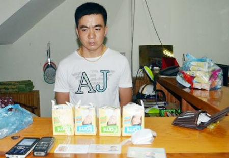Phát hiện 600g ma túy đá trong 4 hộp sữa đậu nành