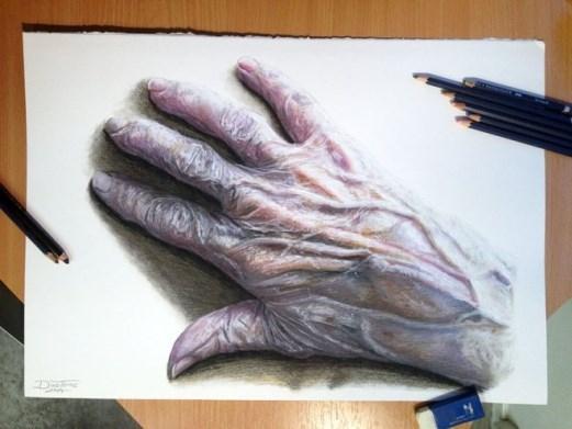 Kinh ngạc trước tài vẽ tranh thật như hình chụp